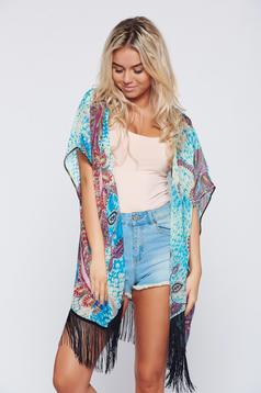 Top Secret easy cut blue casual jacket with print details