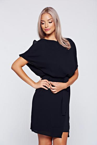 Top Secret black off shoulder cloche dress from airy fabric