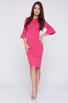 StarShinerS fuchsia pencil elegant dress with bell sleeve