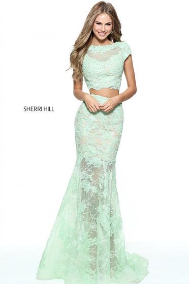 Sherri Hill 51013 Green Dress