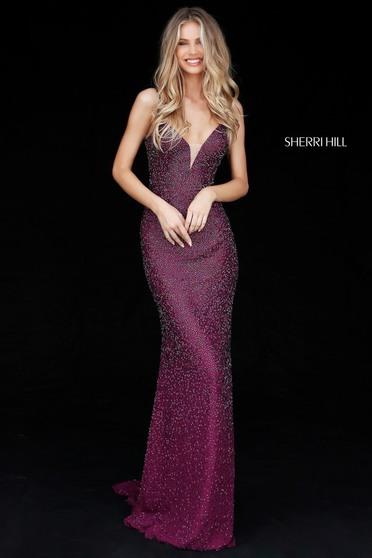 Sherri Hill 50860 Purple Dress