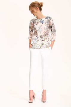 Peach Top Secret easy cut women`s blouse with 3/4 sleeves