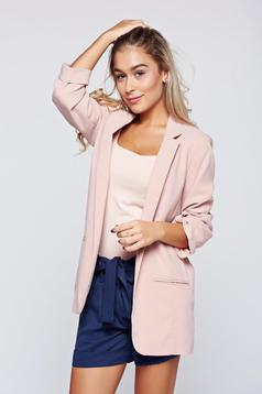 Top Secret flared peach jacket with 3/4 sleeve
