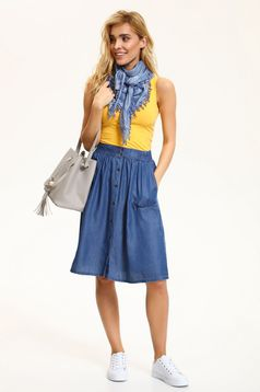 Top Secret blue casual cloche skirt with pockets