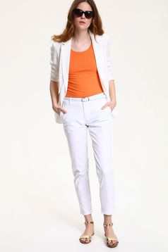 Top Secret white conical trousers with pockets