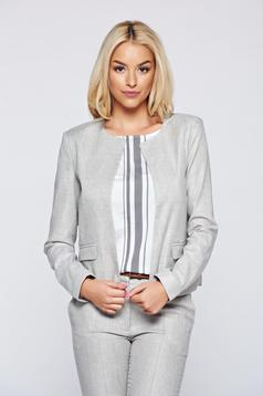 Top Secret grey flared jacket with long sleeve