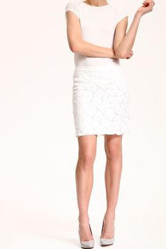 Top Secret S029774 White Skirt