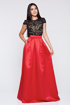 Cloche long Fofy red elegant skirt