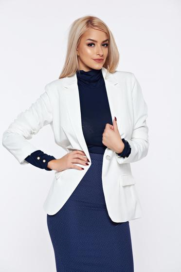 Top Secret white tented jacket with long sleeve