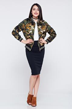 Basic black pencil skirt with elastic waist