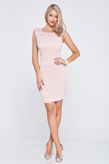 Short rosa sleeveless pencil dress