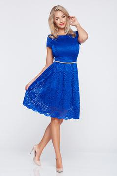 Cloche StarShinerS darkblue elegant laced dress