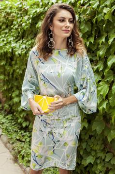 PrettyGirl mint pencil dress with floral print