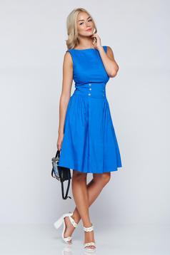 PrettyGirl cloche blue casual sleeveless dress