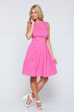 PrettyGirl cloche pink casual sleeveless dress