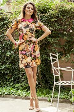 PrettyGirl cream airy fabric dress print details