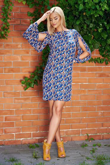 Blue PrettyGirl easy cut airy fabric dress