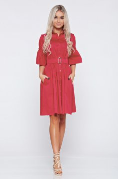 Cloche PrettyGirl pink daily dress with bell sleeves