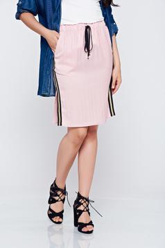 PrettyGirl rosa casual short skirt elastic waist