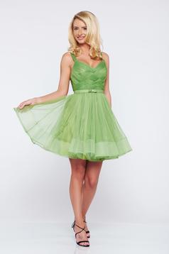 Occasional Ana Radu lightgreen cloche net dress