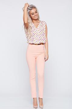 Airy fabric PrettyGirl peach sleeveless jumpsuit