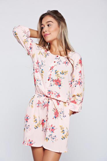 PrettyGirl rosa airy fabric jumpsuit with pockets