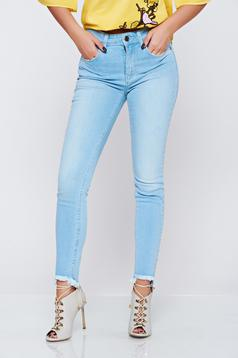 Top Secret blue low waisted casual cotton jeans
