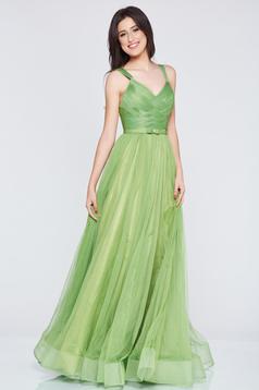 Ana Radu green evening dresses dress with braces embellished accessories