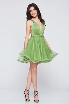 Ana Radu cloche net occasional green dress