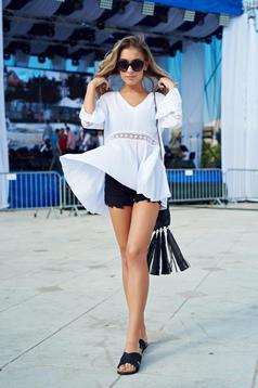 Top Secret black low heel casual slippers