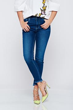 Top Secret blue cotton jeans with medium waist
