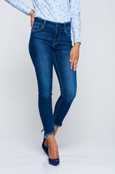 Top Secret blue cotton jeans with medium waist