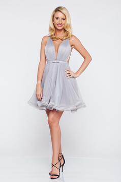 Ana Radu cloche net occasional grey dress