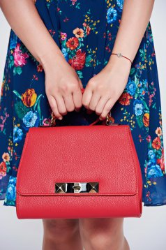 Red elegant bag metallic buckle