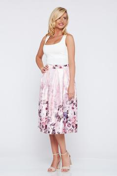 Cloche rosa elegant skirt with floral print