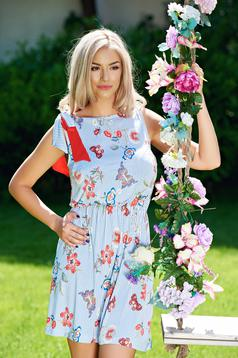 StarShinerS daily lightblue dress with floral prints