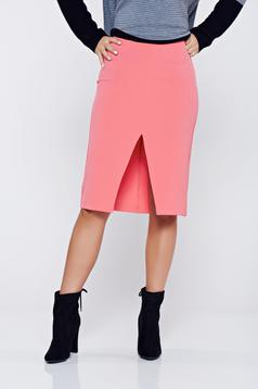 Elegant StarShinerS coral high waisted pencil skirt
