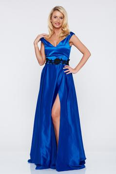Occasional Artista blue dress with satin fabric texture and push-up cups
