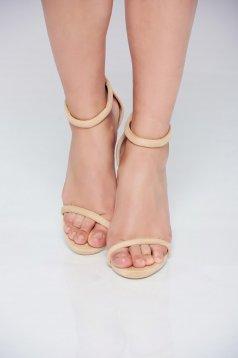 Cream sandals thin straps
