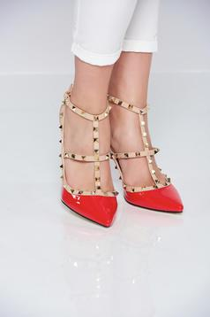 Red shoes metallic spikes