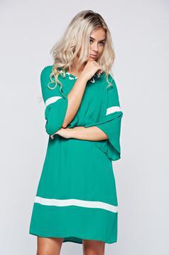 Elegant LaDonna green bell sleeve flared dress