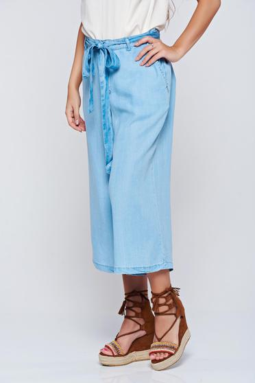 Top Secret blue casual 3/4 trousers with medium waist