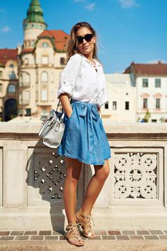 Cloche Top Secret blue casual skirt short