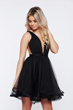 Ana Radu cloche net occasional black dress