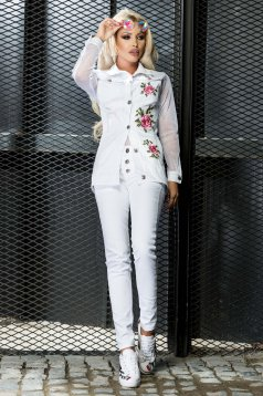 Ocassion white jeans casual with pockets skinny jeans