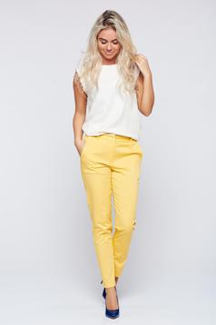Top Secret yellow conical trousers with medium waist