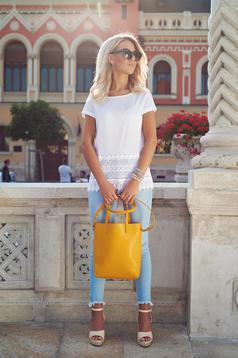 Yellow Top Secret casual bag with medium handles