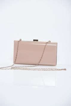 Top Secret cream occasional bag accessorized with chain