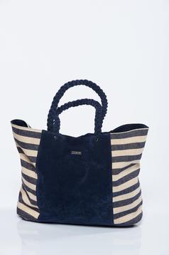 Top Secret black beach wear bag with horizontal stripes
