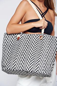 Top Secret black beach wear bag from braided fabric